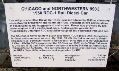 Chicago and North Western 9933 Marker image. Click for full size.