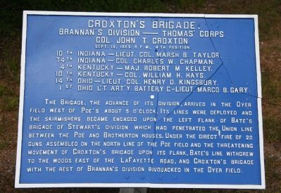 Croxton's Brigade. Marker image. Click for full size.