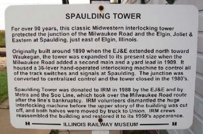 Spaulding Tower Marker image. Click for full size.