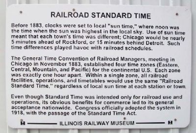 Railroad Standard Time Marker image. Click for full size.