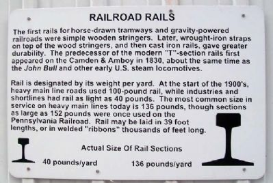 Railroad Rails Marker image. Click for full size.