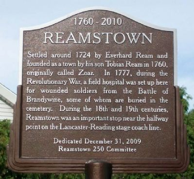 Reamstown Marker image. Click for full size.