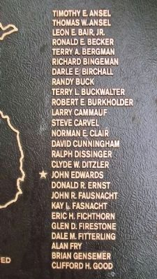 East Cocalico Twp Vietnam War Memorial Honor Roll image. Click for full size.