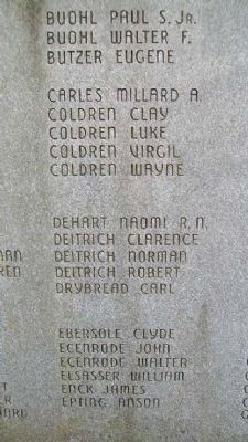 East Cocalico Twp World War II Memorial Honor Roll image. Click for full size.