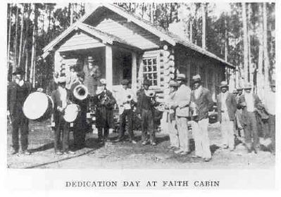 Saluda County Faith Cabin Dedication image. Click for full size.
