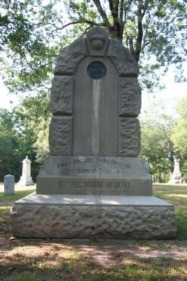 82nd Indiana Infantry Marker image. Click for full size.