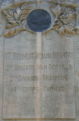 87th Indiana Infantry Marker image. Click for full size.