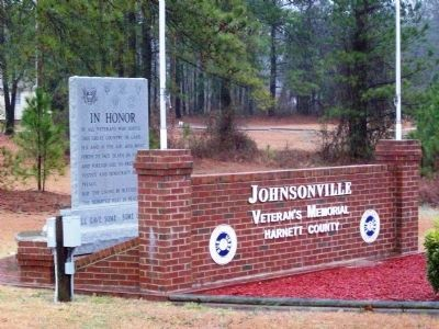 Johnsonville Veteran Memorial Harnett County Marker image. Click for full size.
