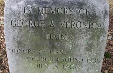 George Hain Grave Marker (replacement) image. Click for full size.