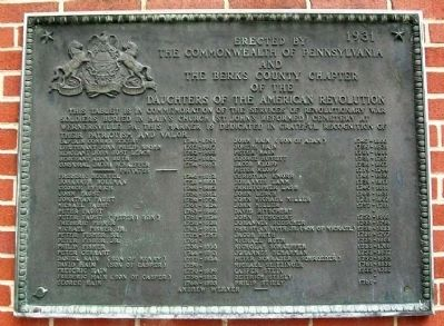 Revolutionary War Soldiers in Hain's Church Cemetery Marker image. Click for full size.