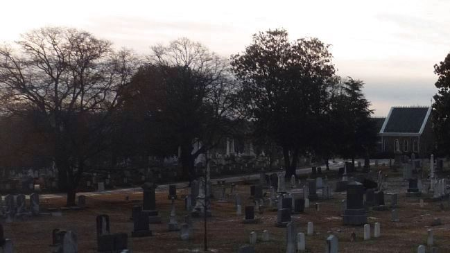 Historic Congressional Cemetery - view from E Street image. Click for full size.