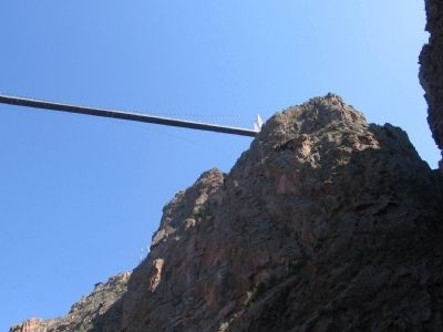 Royal Gorge Bridge from below image. Click for full size.