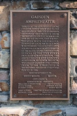 Gadsden Amphitheater Marker image. Click for full size.