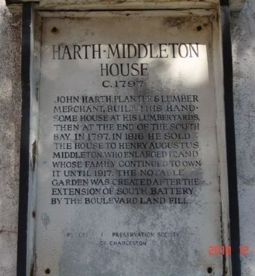 Harth-Middleton House Marker image. Click for full size.