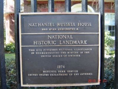 Nathaniel Russell House Marker image. Click for full size.