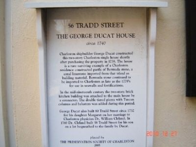 The George Ducat House Marker image. Click for full size.