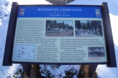Woodbine Cemetery CWT Marker image. Click for full size.