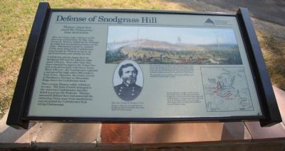 Defense of Snodgrass Hill Marker image. Click for full size.