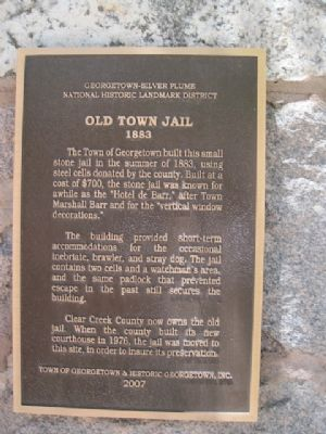 Old Town Jail Marker image. Click for full size.