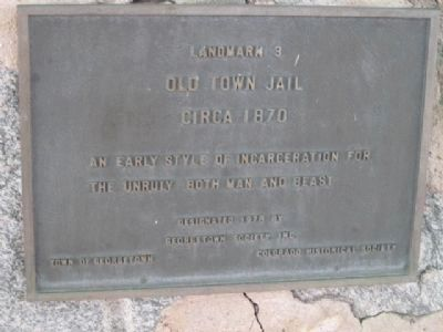 A Second Marker Mounted on the Jail image. Click for full size.