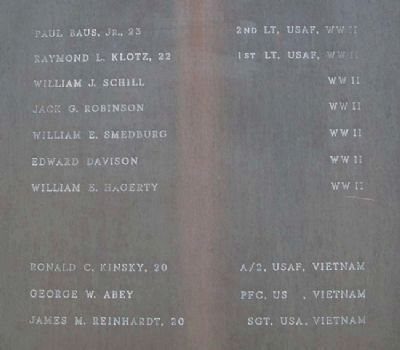 USAF Panel on Burholme Memorial for Peace image. Click for full size.