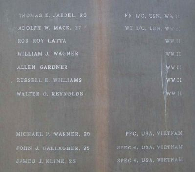 Navy Panel on Burholme Memorial for Peace image. Click for full size.