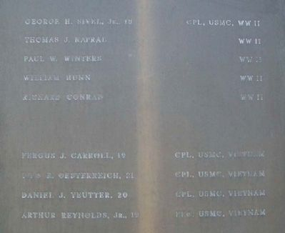 USMC Panel on Burholme Memorial for Peace image. Click for full size.