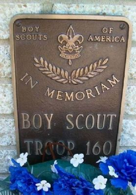 Scout Troop 160 Marker on Burholme Memorial image. Click for full size.