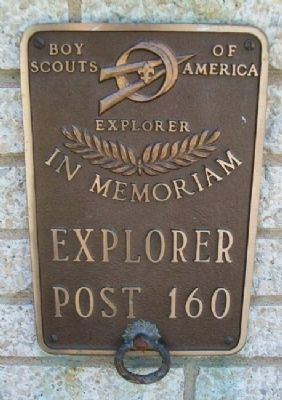 Explorer Post 160 Marker on Burholme Memorial image. Click for full size.