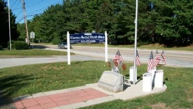 Chester-Bethel UMC Veterans Memorial image. Click for full size.