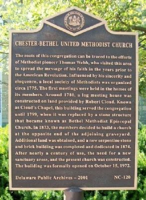 Chester-Bethel UMC Marker image. Click for full size.