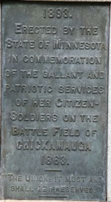 2nd Minnesota Marker image. Click for full size.