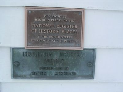 Charleston Baptist Church NRHP and Charleston Historical Society Plaques image. Click for full size.