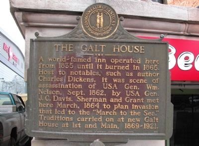 The Galt House Marker image. Click for full size.