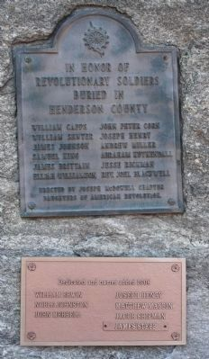 Revolutionary Soldiers Marker close-up image. Click for full size.