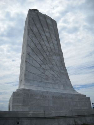 Wright Brothers National Memorial East side close-up image. Click for full size.
