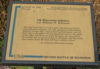 7th Wisconsin Infantry Marker image. Click for full size.