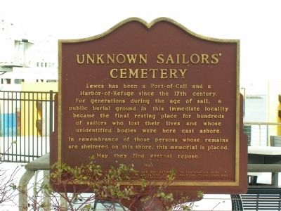 Unknown Sailors' Cemetery Marker image. Click for full size.