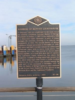 Harbor of Refuge Lighthouse Marker image. Click for full size.