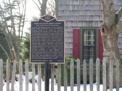 Home of Major Henry Fisher Marker image. Click for full size.