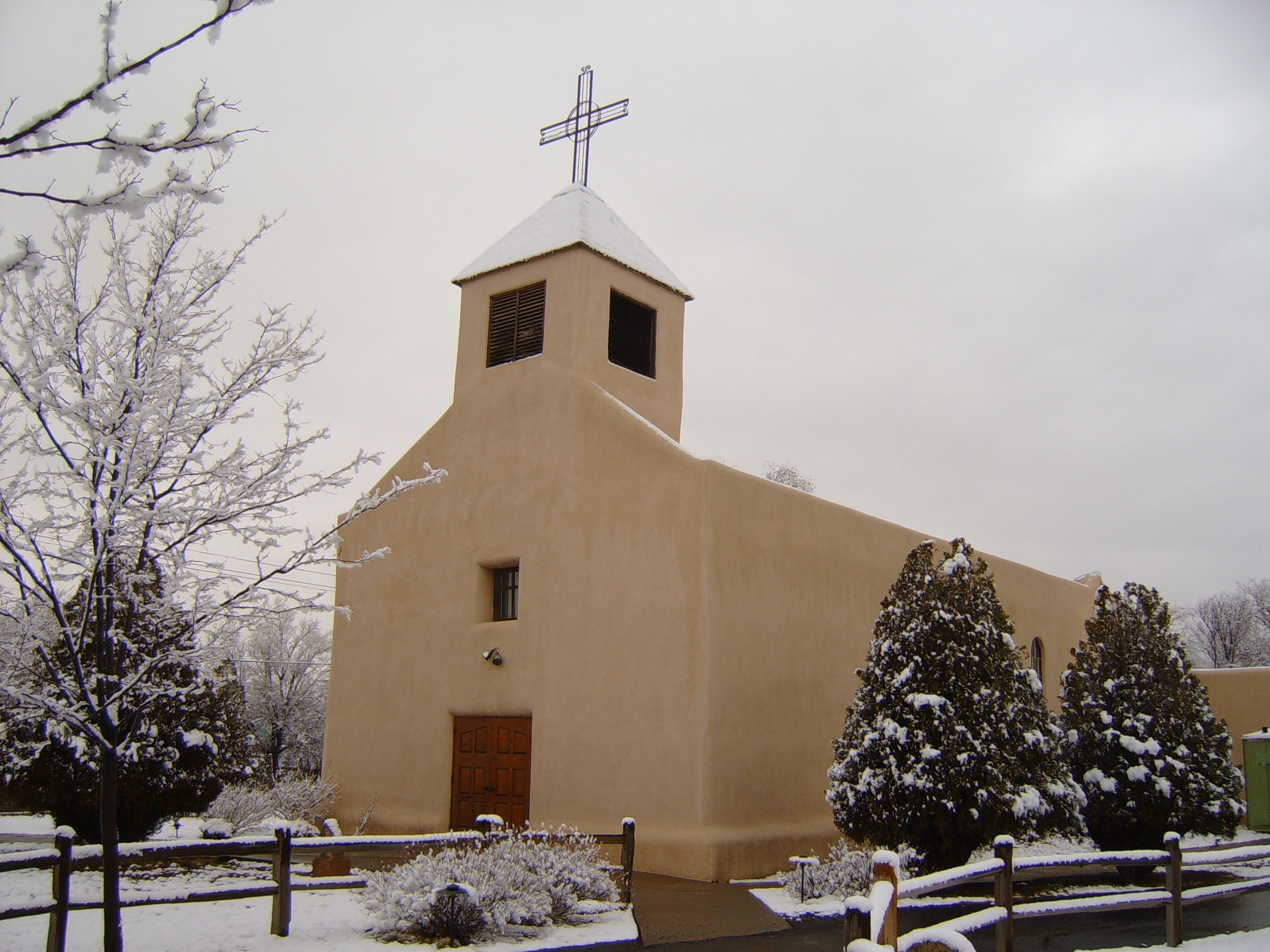 San Isidro Catholic Church in Winter