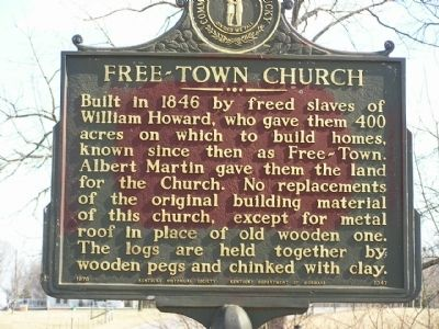 Free-Town Church Marker image. Click for full size.