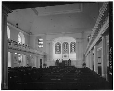 Interior of the First Scots Presbyterian Church image. Click for full size.