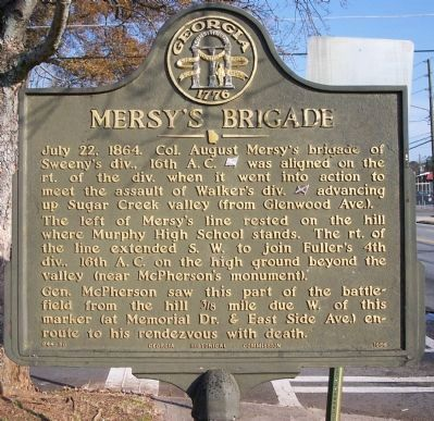 Mersy's Brigade Marker image. Click for full size.
