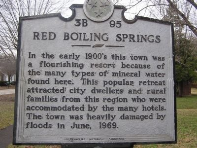 Red Boiling Springs Marker image. Click for full size.