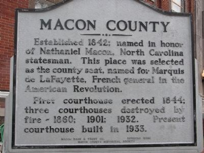 Macon County Marker image. Click for full size.