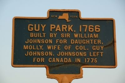 Guy Park, 1766 Marker image. Click for full size.