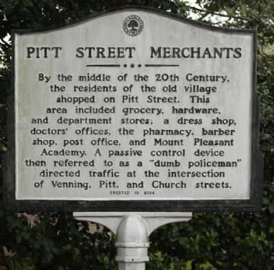 Pitt Street Merchants Marker image. Click for full size.