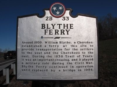 Blythe Ferry Marker image. Click for full size.