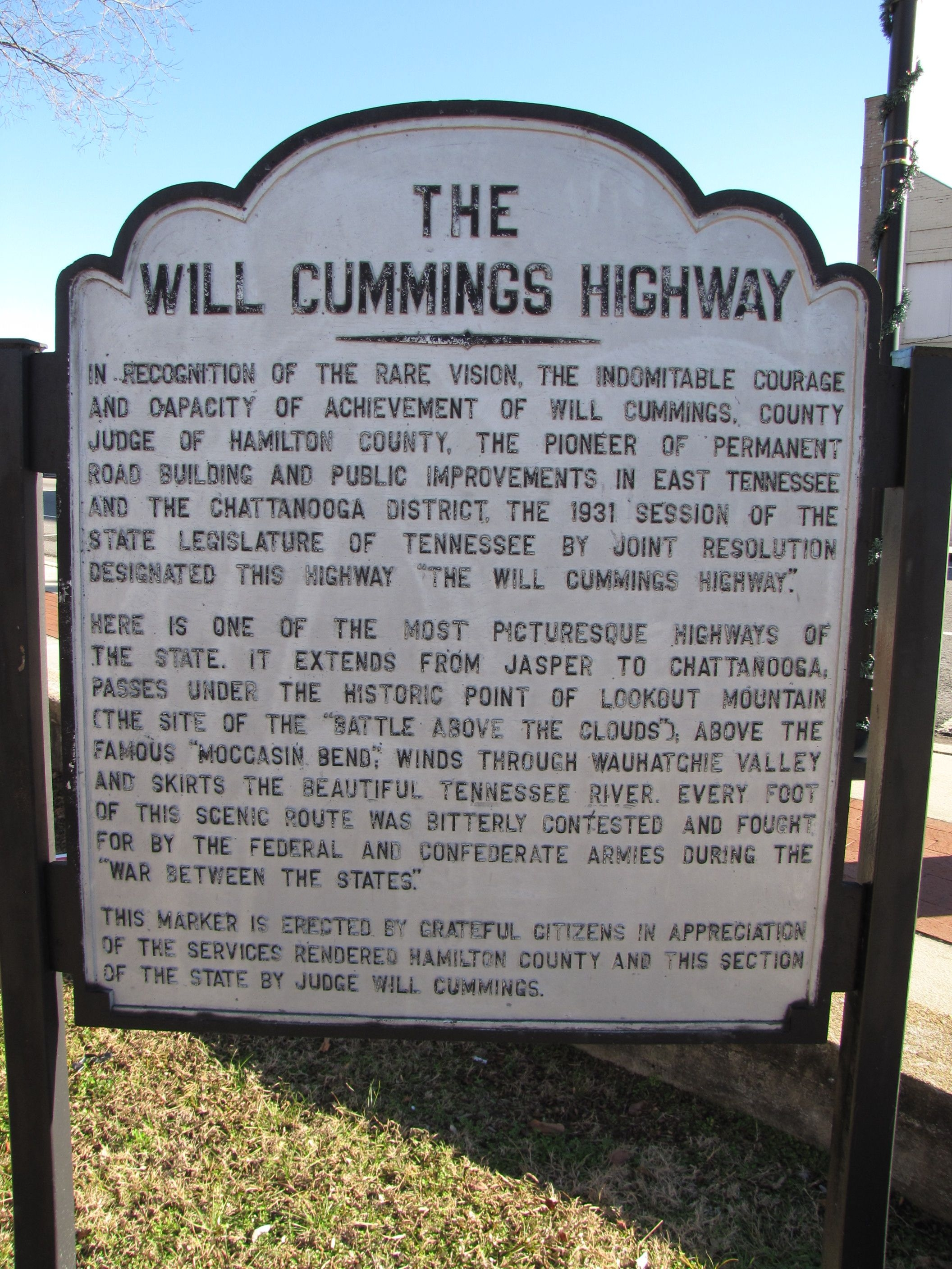 The Will Cummings Highway Marker